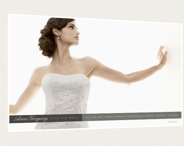 anne gregory for the bride web design and web mail by ocreations in pittsburgh