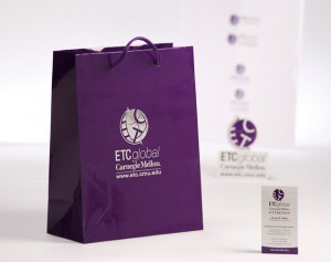 carnegie mellon etc global gift bag package design by ocreations in pittsburgh