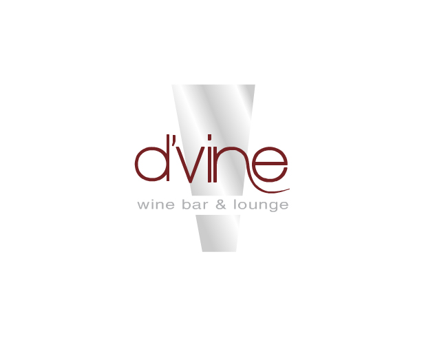 dvine wine bar and lounge branding and logo design by ocreations in pittsburgh