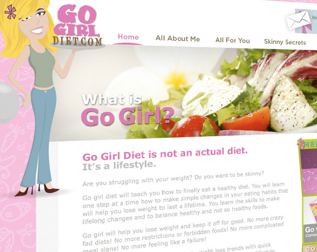 go girl diet web design and web mail by ocreations in pittsburgh