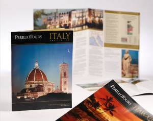 perillo tours direct mailer publications and print design by ocreations in pittsburgh