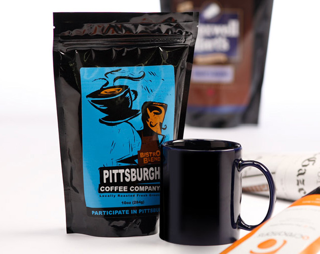coffee company package design by ocreations in pittsburgh