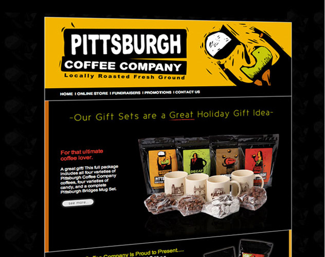 pittsburgh coffee company web design and web mail by ocreations in pittsburgh