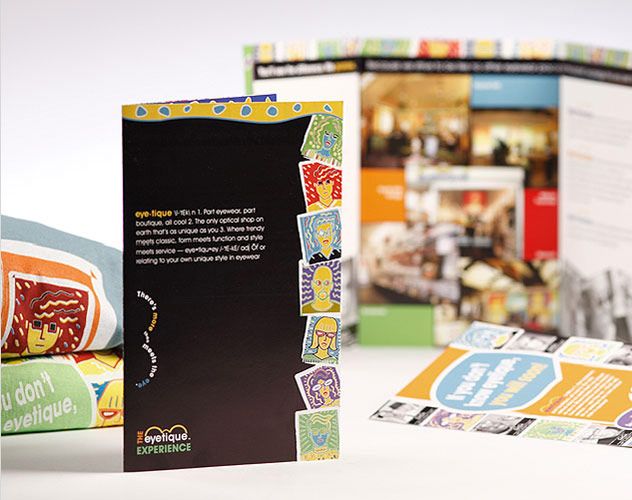 eyetique eyewear brochure publications and print design by ocreations in pittsburgh