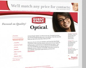pittsburgh giant eagle optical web design and web mail by ocreations in pittsburgh