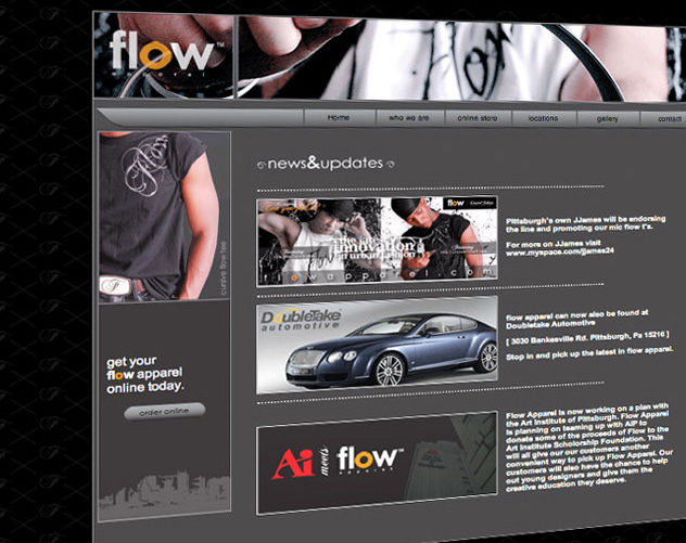 pittsburgh hip hop flow apparel web design and web mail by ocreations in pittsburgh