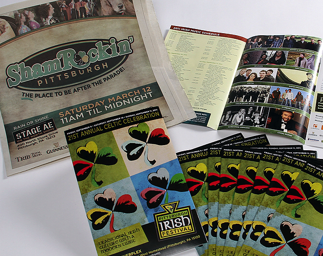 pittsburgh irish festival print design