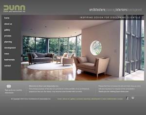 dunn archtiecture website design
