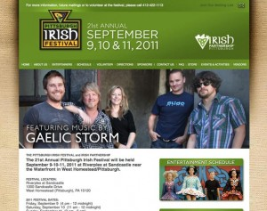 pittsburgh irish festival website design