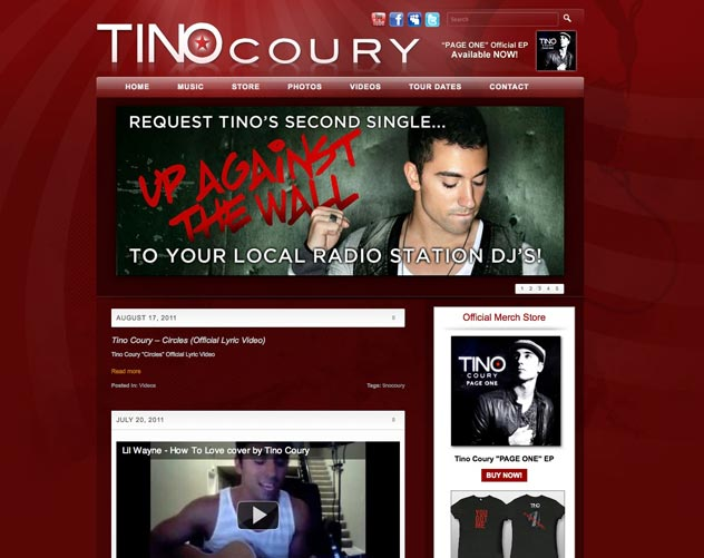 tino coury website design