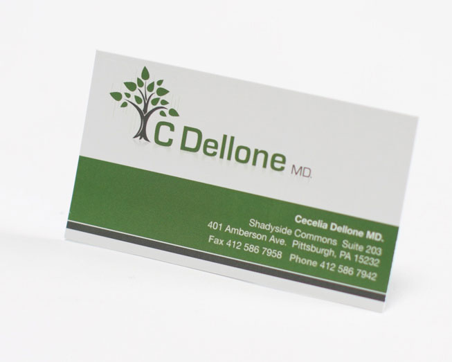 c dellone business card print design by ocreations in pittsburgh