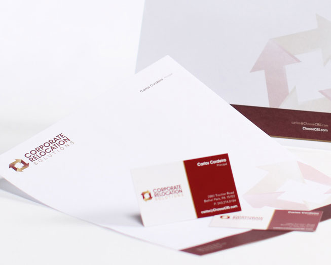 corporate relocation solutions branding package by ocreations in pittsburgh
