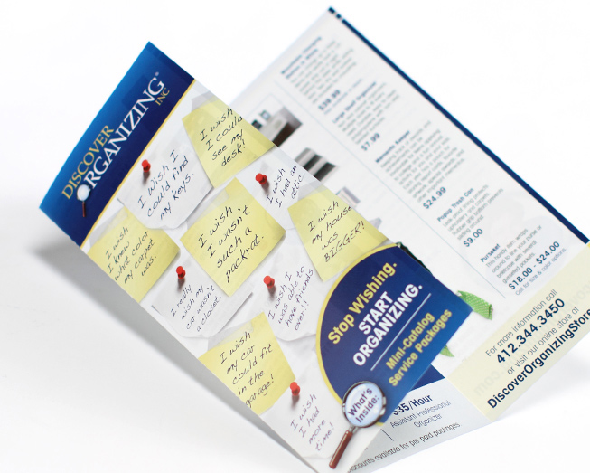 discover organizing brochure by ocreations in pittsburgh