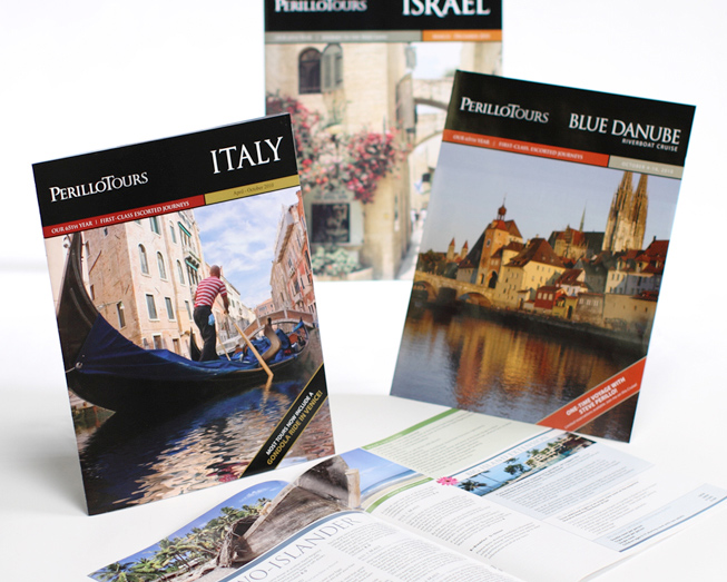 perillo tours brochure print design by ocreations in pittsburgh