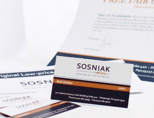 Sosniak Business Card, Letterhead, and Brochure