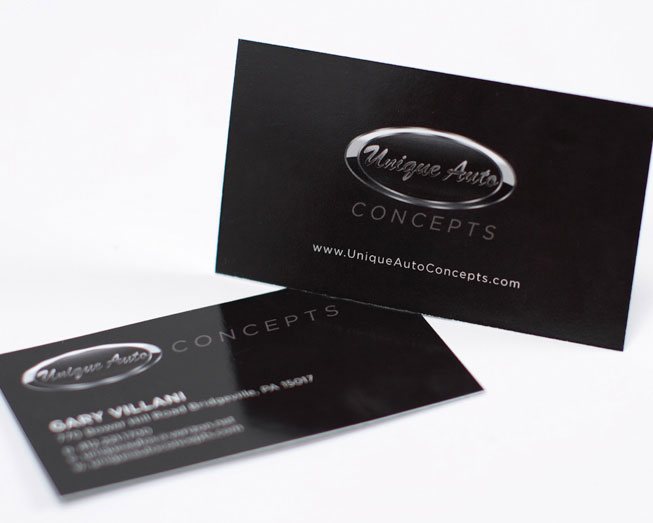 unique auto business card print design by ocreations in pittsburgh