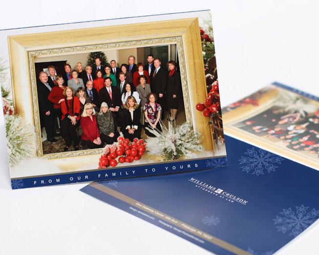 williams holiday card print design by ocreations in pittsburgh