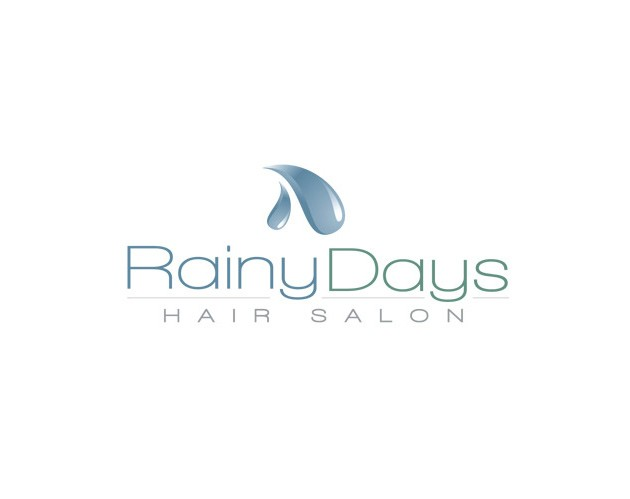 rainy days hair salon branding and logo design by ocreations in pittsburgh