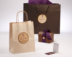 trunk shows botique gift bag package design by ocreations in pittsburgh