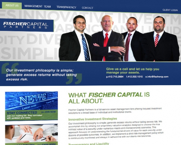 fischer capital partners website by ocreations in pittsburgh