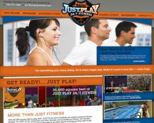 just play fitness website by ocreations in pittsburgh