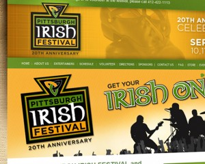 pittsburgh irish festival website by ocreations in pittsburgh
