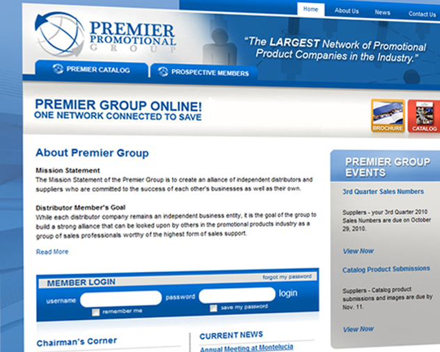 premier group website by ocreations in pittsburgh