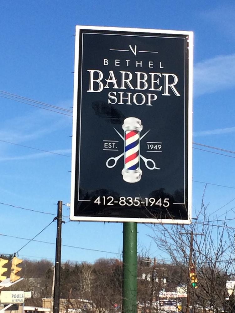 Barber Shop Logo >> Bethel Barber Shop Sign - ocreations A Pittsburgh Design Firmocreations A Pittsburgh Design Firm