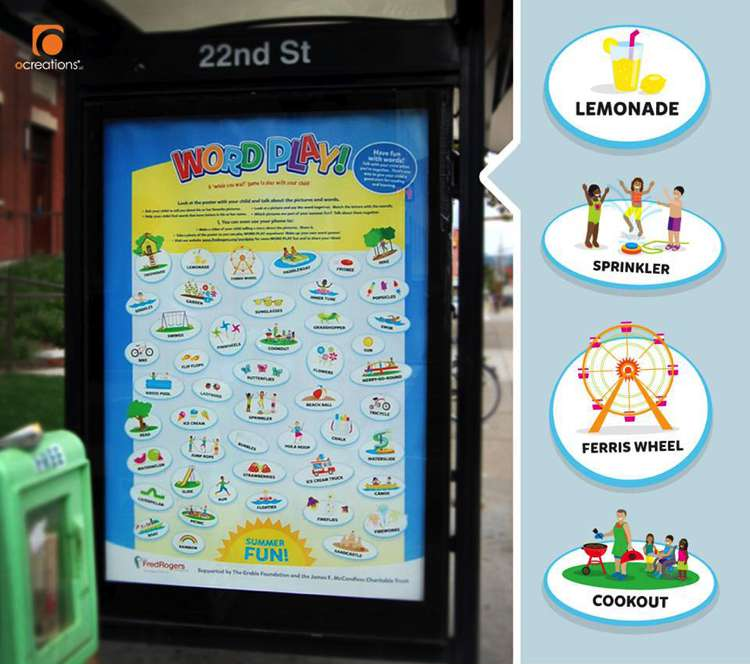 Fred Rogers Company Word Play Transit Shelter - ocreations A