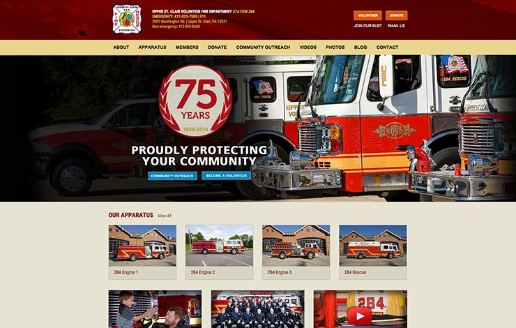 pittsburgh-web-design-upper-st-clair-fire-department
