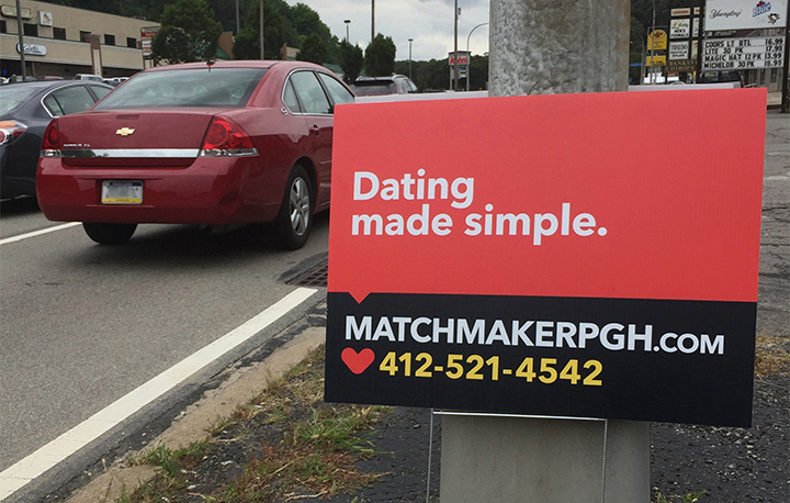 pittsburgh-environmental-graphic-raodside-modern-matchmaker-yard-sign
