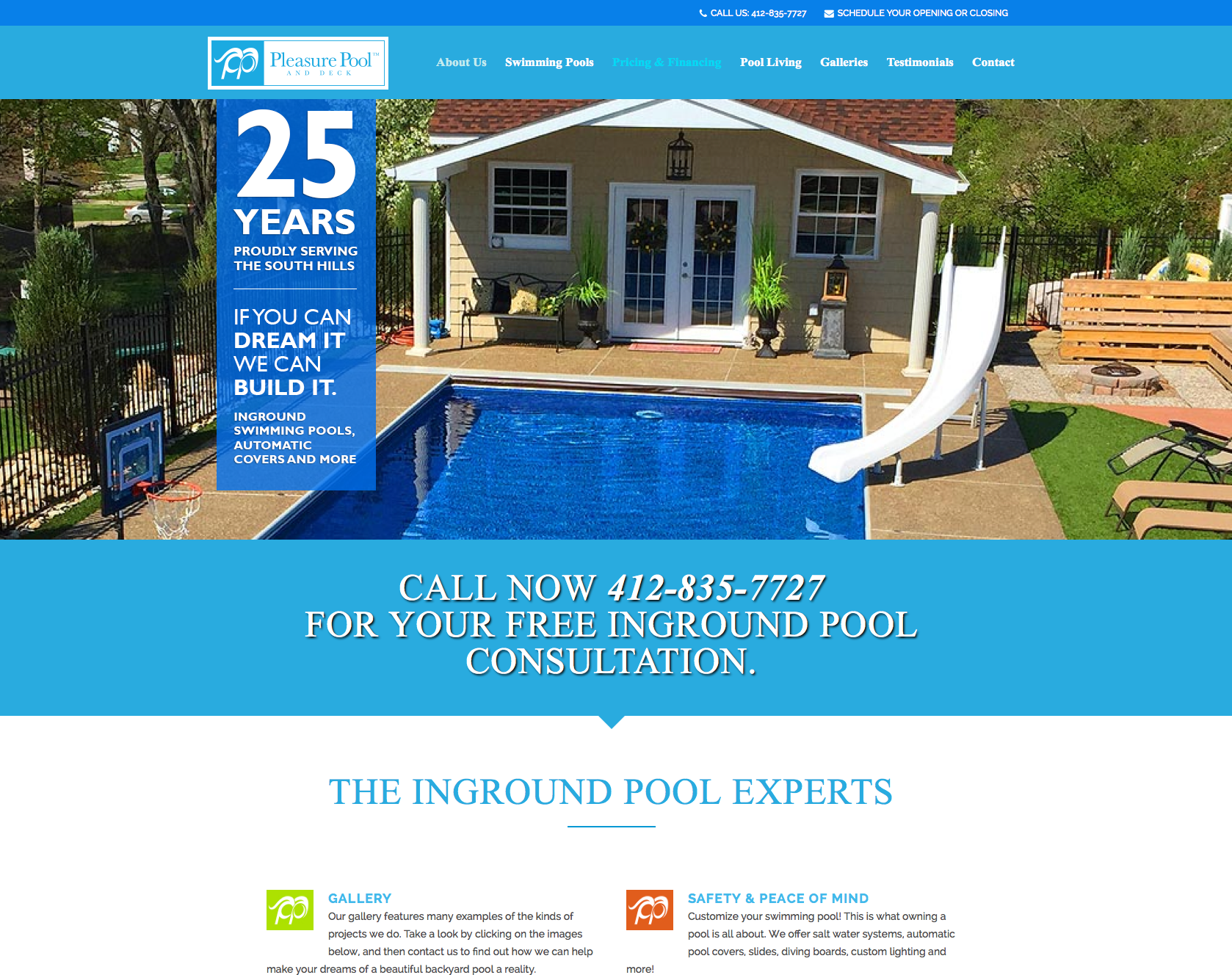 Pittsburgh-website-design-Pleasure-Pool-and-Deck-Homepage