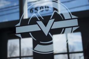 Pittsburgh-graphic-design-environmental-design-TheVault-window-logo