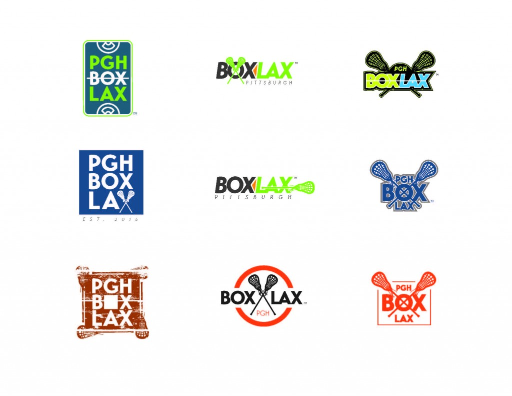 ocreations-concepts-Pittsburgh-Box-Lax-logo-digital-sketches-with-variations