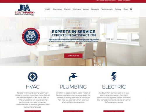 J&A HVAC South Park Website