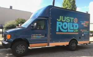 Just Roll'd Up vehicle wrap
