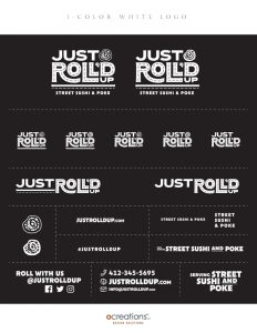 Just Roll'd Up Brand Style Guide Sheet - page 6