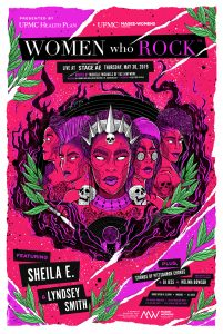 Stage AE Women Who Rock poster illustration Nina Zivkovic