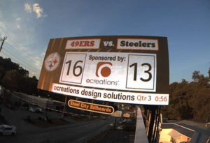 ocreations digital sponsor billboard Steel City Billboards