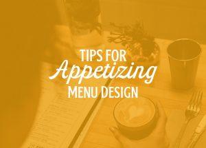 appetizing menu design