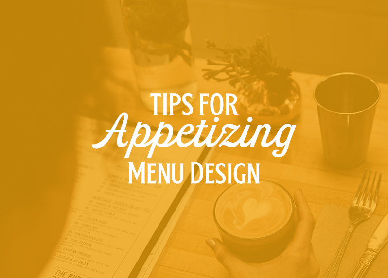 appetizing menu design