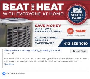 J&A Beat the Heat Digital Campaign