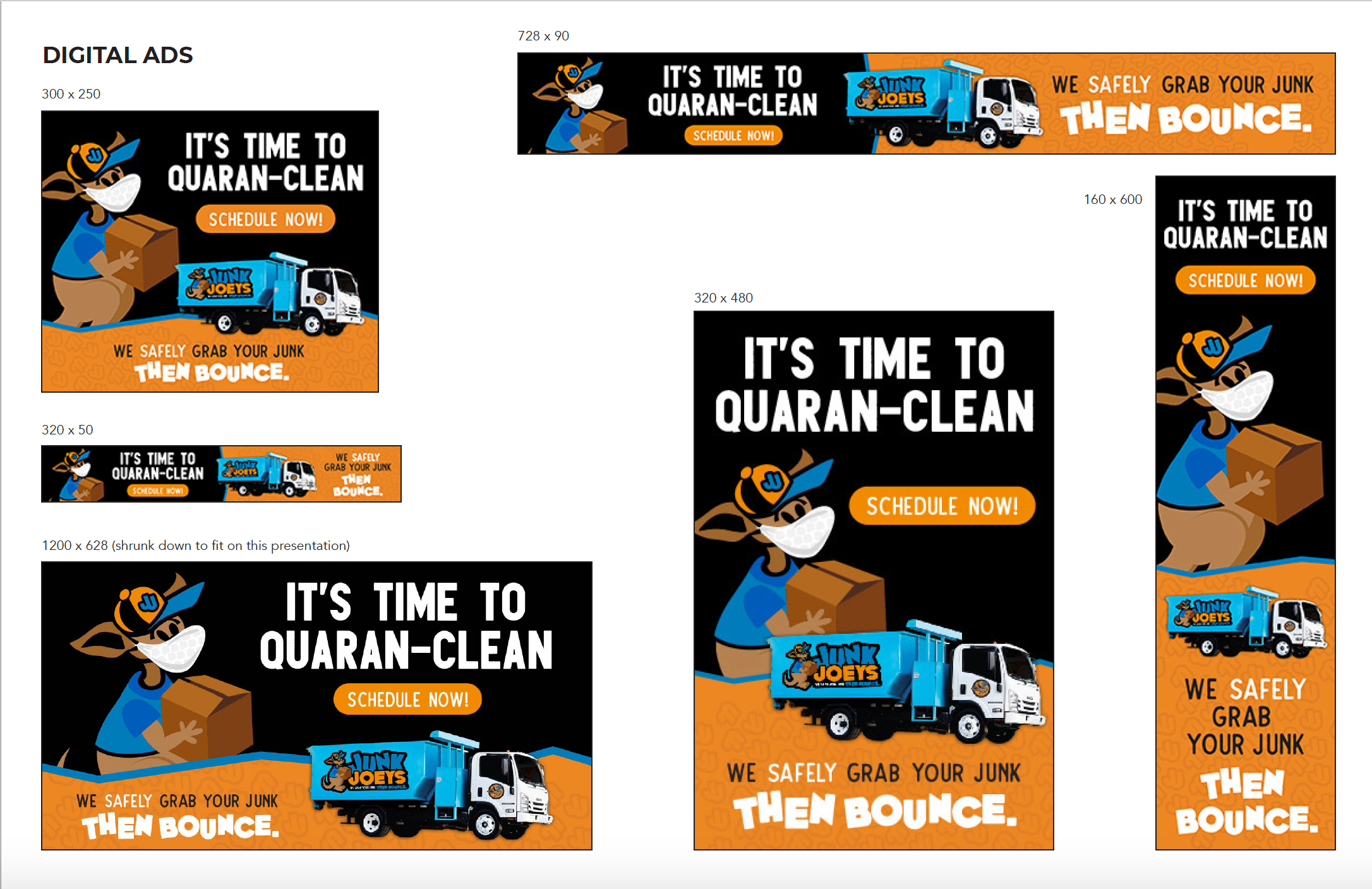 Junk Joeys Quaranclean Digital Ad Campaign
