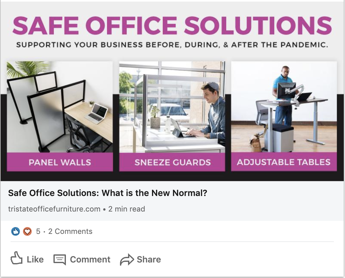 Tristate Office Furniture Safe Office Solutions Blog Social post
