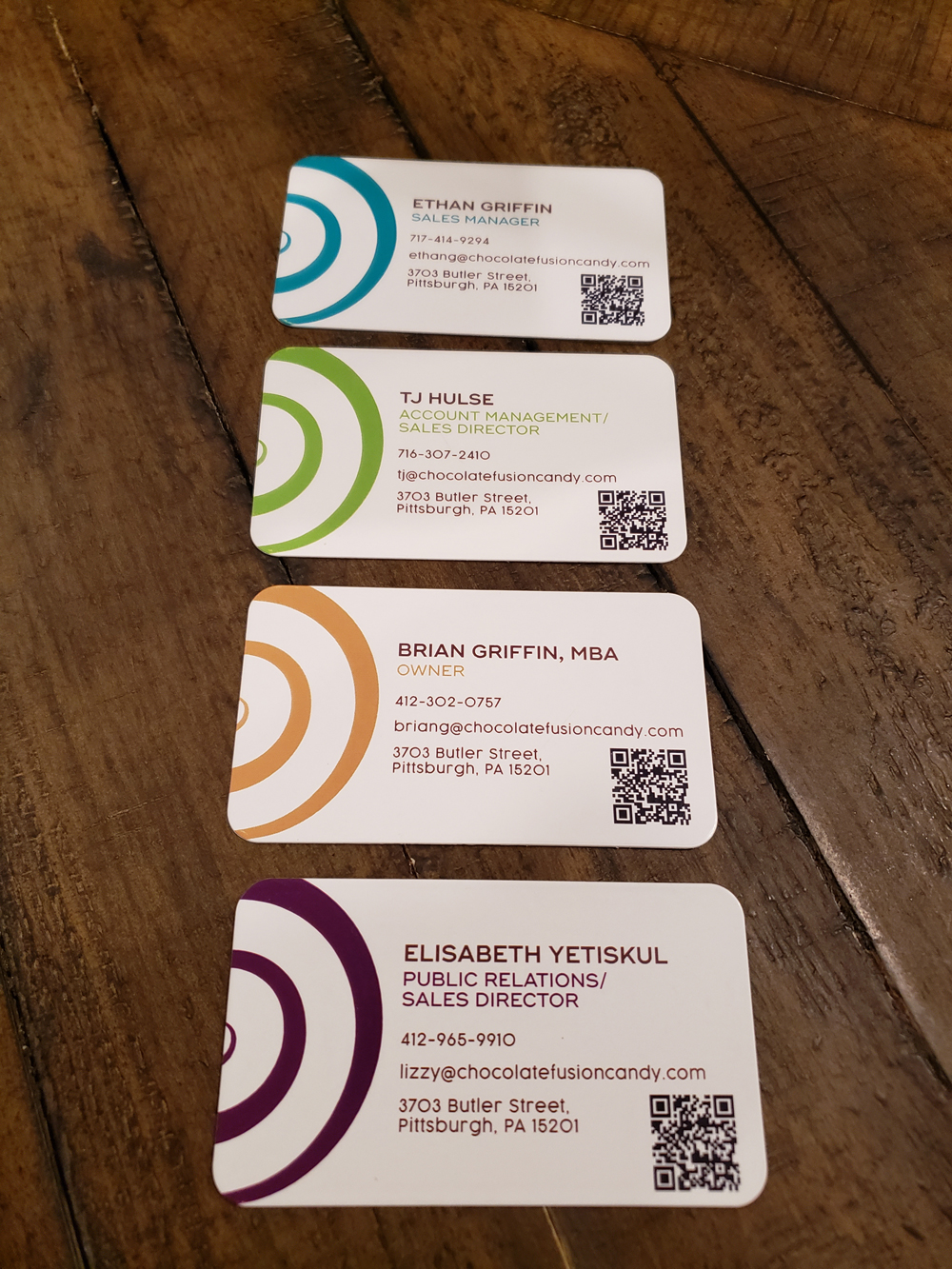 chocolate fusion business cards back