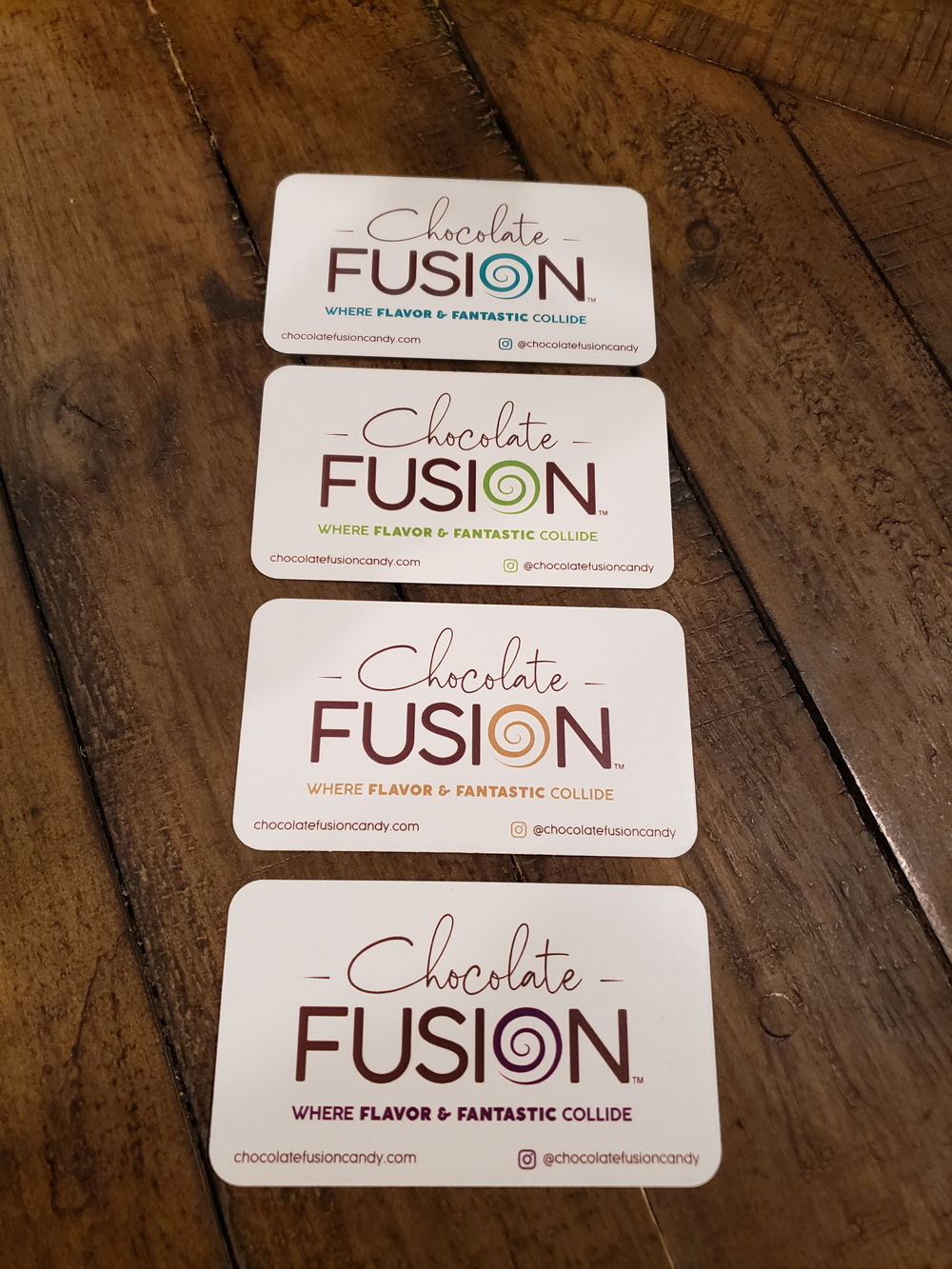 chocolate fusion business cards front