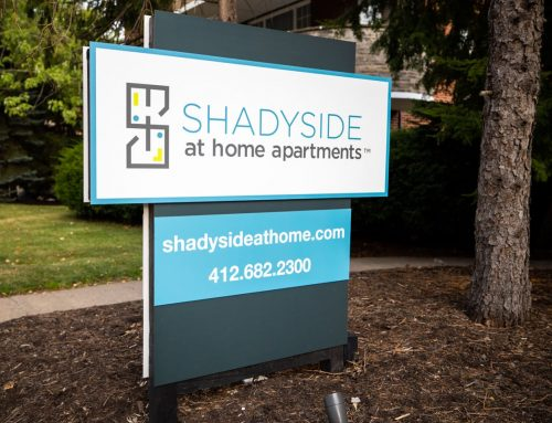 Shadyside At Home Apartments Signage