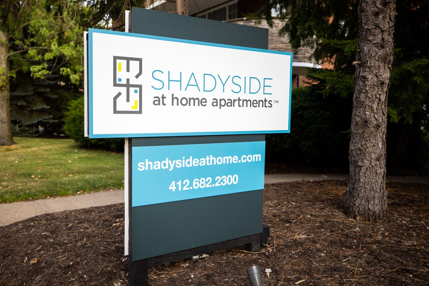 shadyside at home suites sign