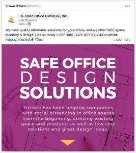 Tristate Office Furniture Safe Office Design Solutions Free Space Planning Social Graphic