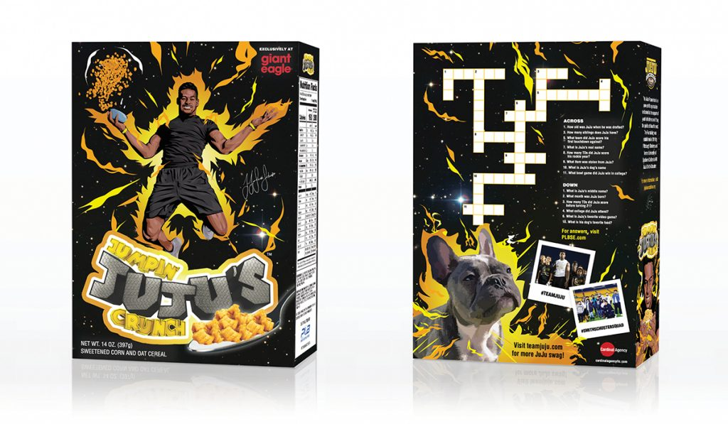 jumpin juju cereal box mockup